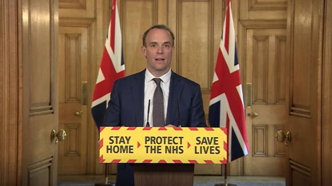 "Dominic Raab has said ""we must not gamble or sacrifice"" our progresses in terms of the lockdown"