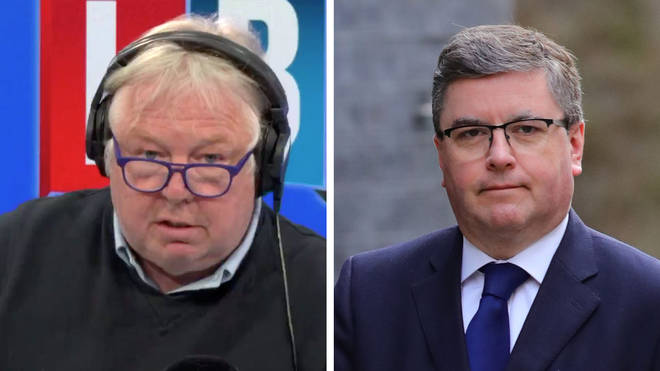 Nick Ferrari questioned the Justice Secretary over the missed testing target