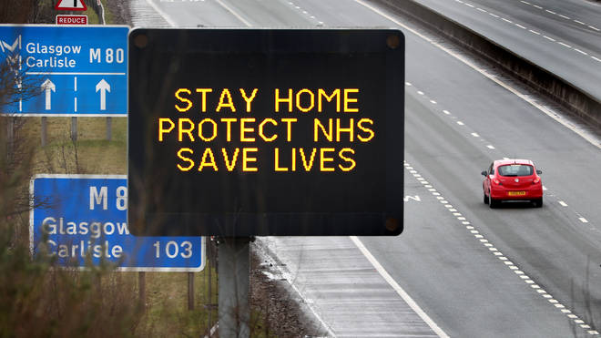 The signs were vandalised in Northumbria