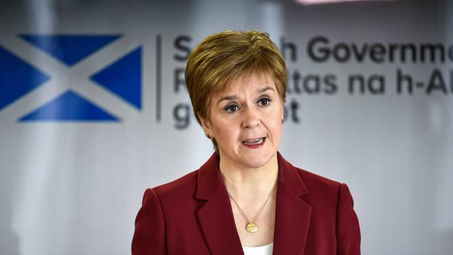 Nicola Sturgeon has urged caution on Boris Johnson's claim we are past the peak