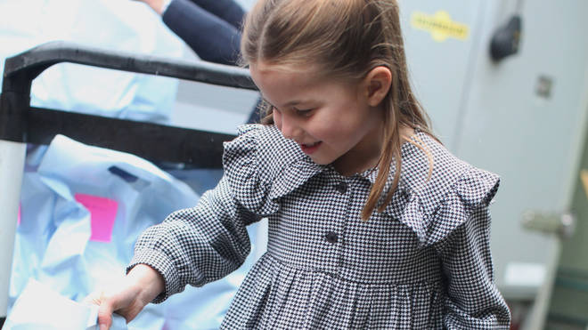 Charlotte was volunteering with her parents the Duke and Duchess of Cambridge