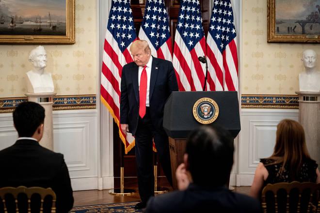 The President has been speaking at daily coronavirus briefings
