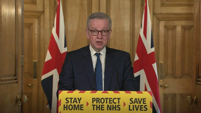 Micheal Gove made the announcement at the daily Downing Street press office