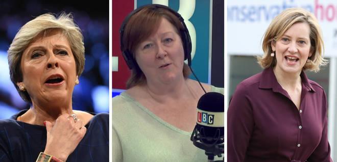 Theresa May, Shelagh Fogarty, Amber Rudd