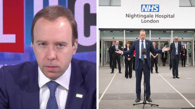 Matt Hancock says the Nightingale Hospital has been a big success
