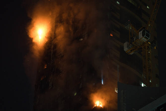 Authorities said it wasn't immediately clear what caused the blaze