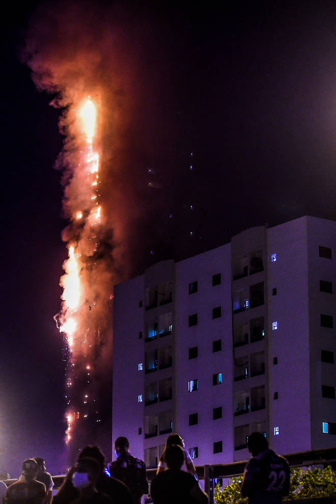 The fire was in a high rise block