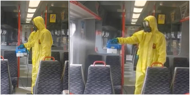 Great Anglian trains will be using fogging guns to sanitise their carriages