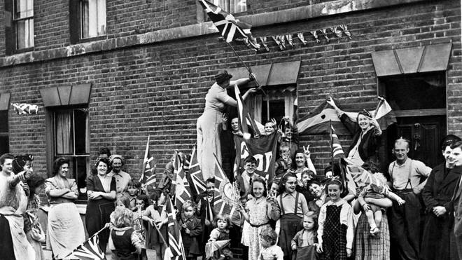 Street parties were widespread on VE Day