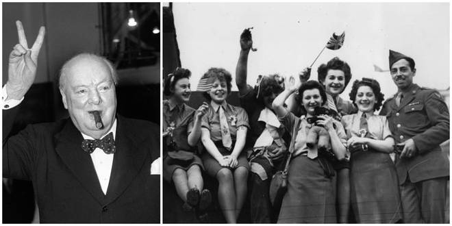 Have a look how people celebrated VE Day in London