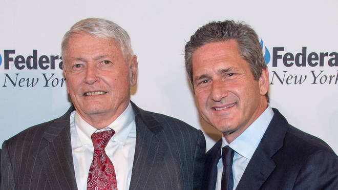 John Malone (L) and Mike Fries (R) of Liberty Global
