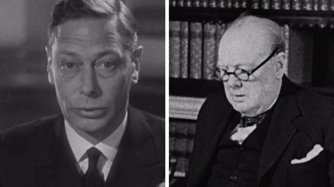 Watch the VE Day speeches from King George VI and Winston Churchill