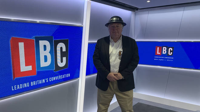 Nick Ferrari wore his father's medals and his mother's helmet to commemorate VE Day