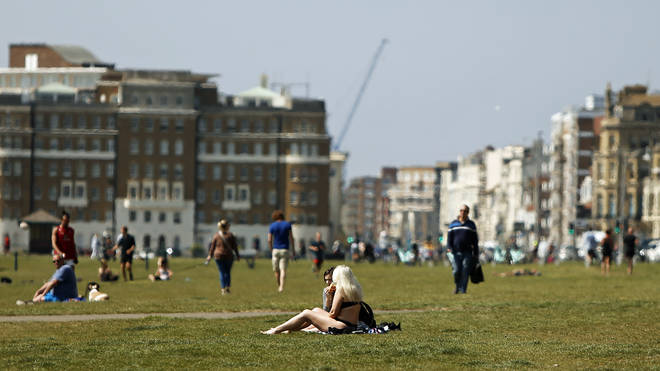 Despite warm weather this weekend, people must resist the urge to go out and sunbathe