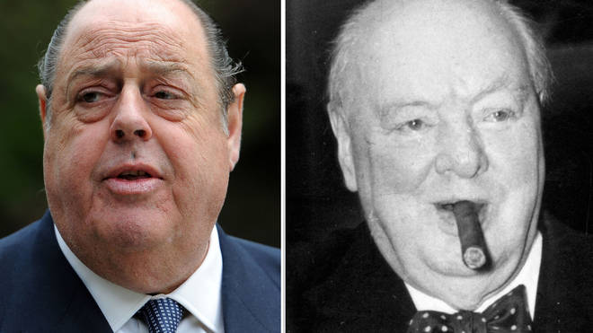 Sir Nicholas Soames reflected on the hero he knew only as Grandpa