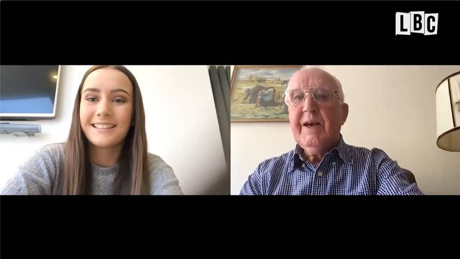 Tamzin spoke to her great-grandfather Louis about VE Day via Zoom