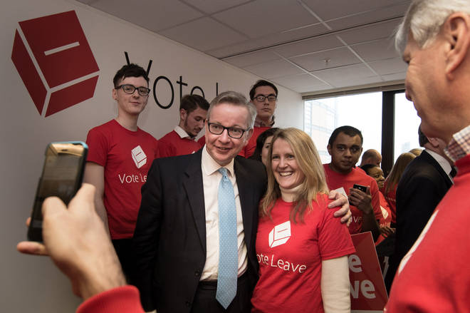 Darren Grimes working for Vote Leave, alongside Michael Gove