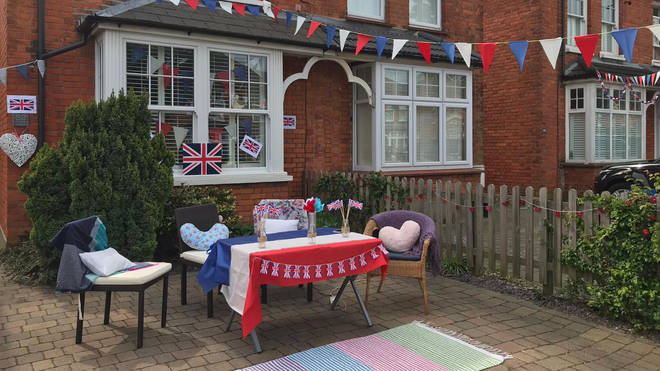 People across Britain have enjoyed socially distanced garden parties