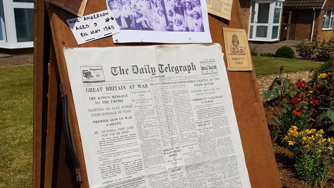 The front page of The Daily Telegraph announcing Britain's declaration of war against Germany