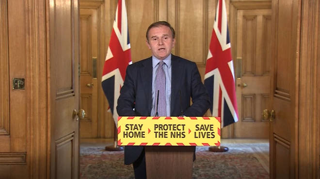George Eustice confirmed the death toll during the government's daily press conference