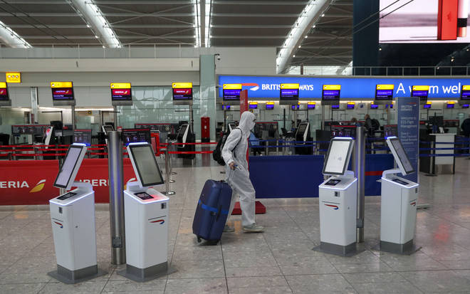 There will be a quarantine on air passengers arriving into the UK