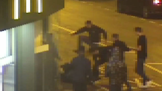 The brutal attack took place outside a McDonald's in Huddersfield.