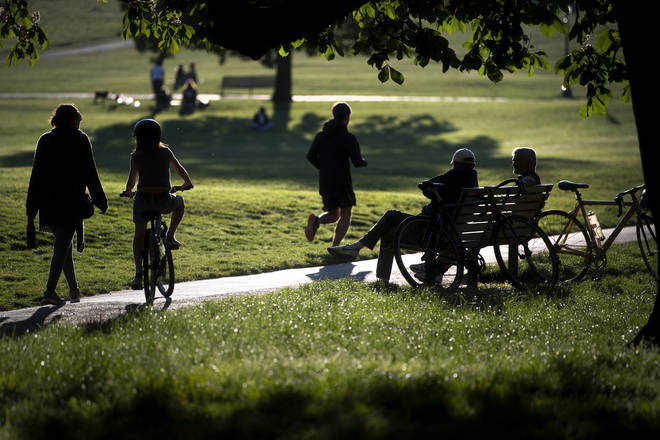People will now be allowed to sit in parks under the new rules