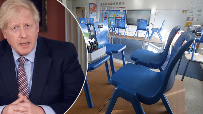 Boris Johnson touched upon a phased reopening of schools in new lockdown review