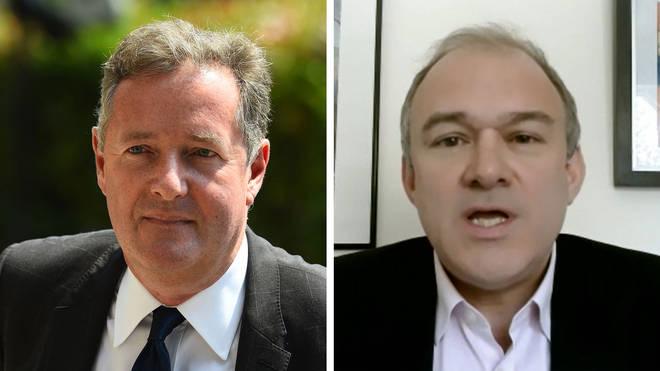 Ed Davey found himself agreeing with Piers Morgan's tweet