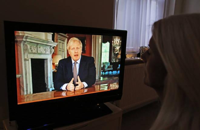 Boris Johnson made the speech on Sunday