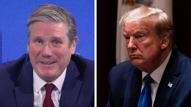 Keir Starmer was critical of Donald Trump's handling of coronavirus