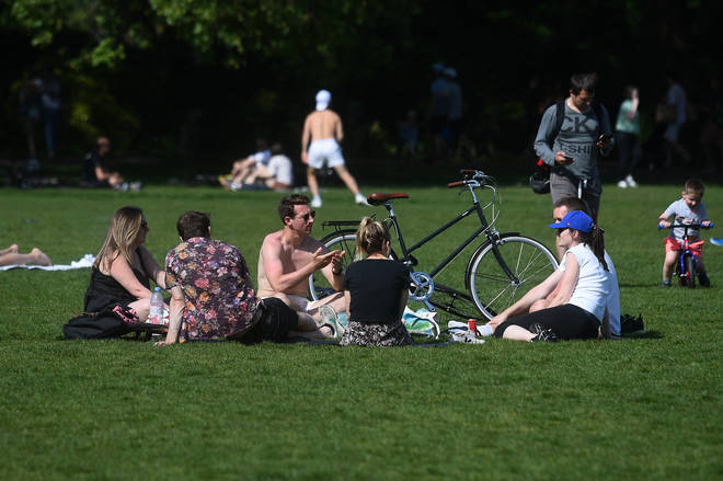 Police will no longer stop people sitting in the park, but they can only meet one person outside their household