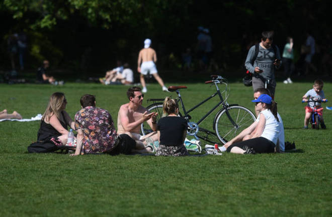 Police will no longer stop people sitting in the park, but they can only meet one person outside their household.