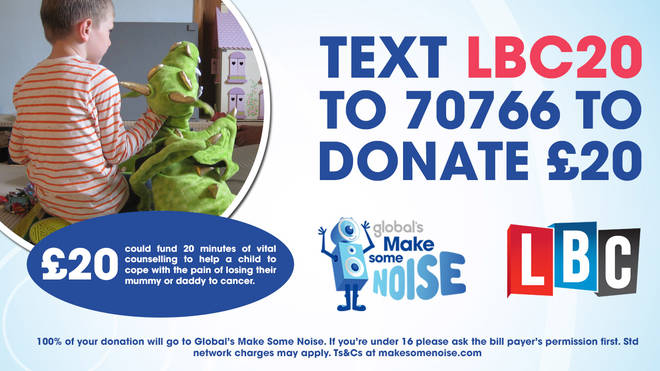 Text to donate to Global's Make Some Noise
