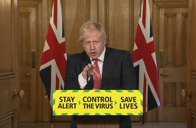 Boris Johnson updated the country's death figures at Monday's briefing