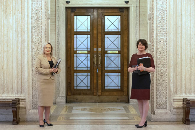 Arlene Foster and Michelle O'Neill made the announcement