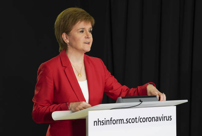 Nicola Sturgeon was speaking on Tuesday