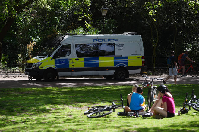 People were previously banned from congregating in parks