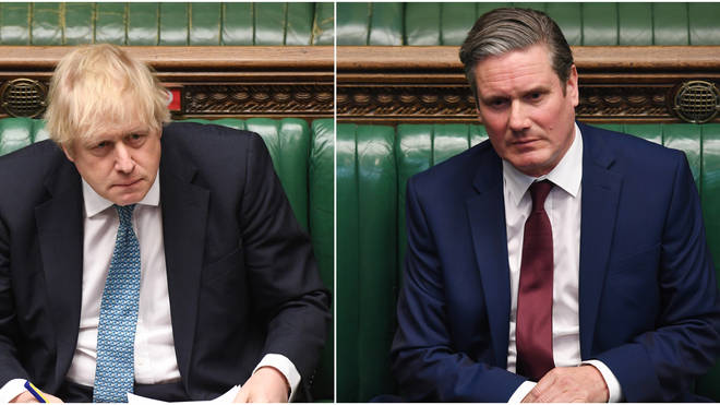 Keir Starmer and Boris Johnson faced one another in the Commons on Wednesday