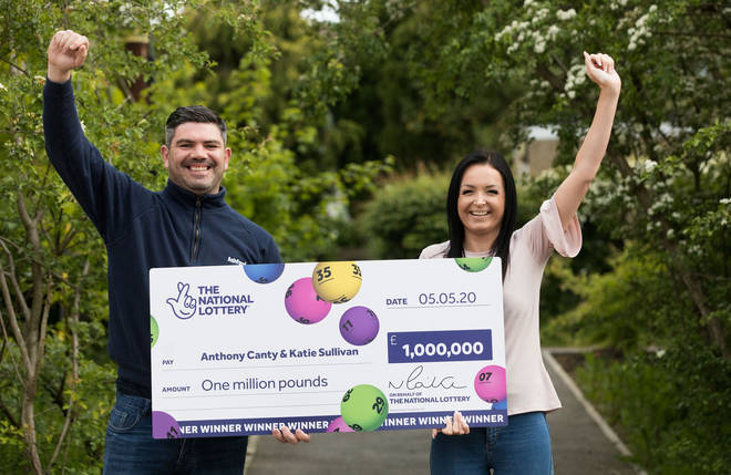 Anthony Canty, 33, from Maldon in Essex, who won £1 million in the Euromillions with his partner Katie Sullivan