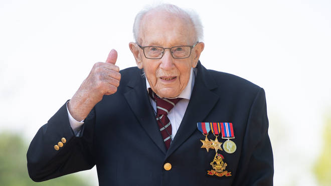 The veteran became a national hero when he raised almost £33 million for the NHS