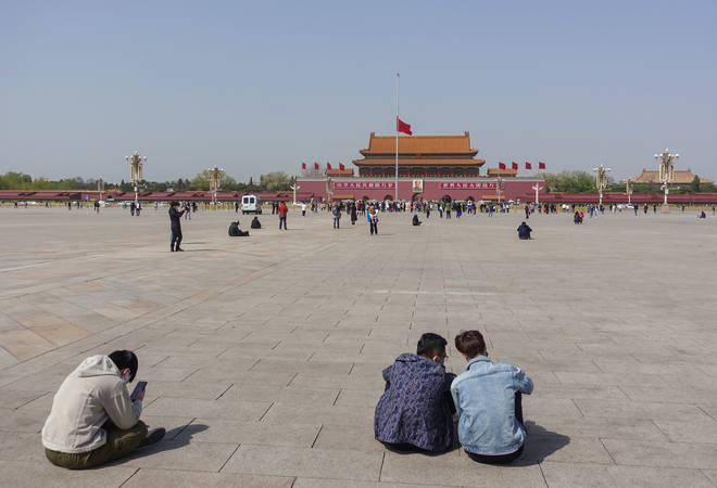 Flags at Tiananmen Square lowered to half-mast to mourn medical staff and citizens lost to coronavirus