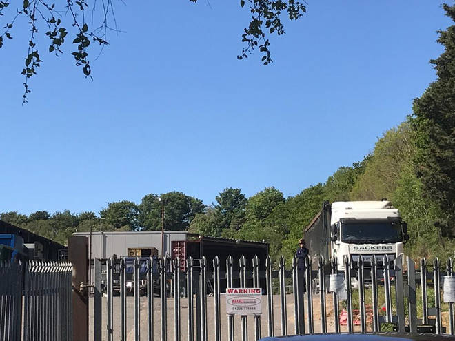 Police are investigating after the body of a newborn baby girl was found at a Suffolk recycling centre