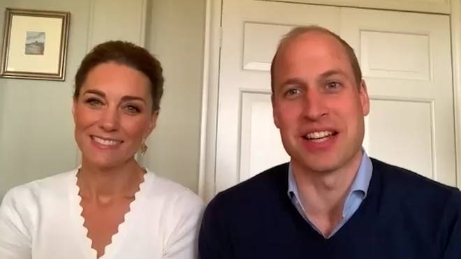 William and Kate spoke to five Shout volunteers on Wednesday