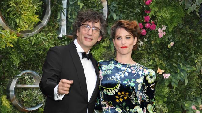 Neil Gaiman with his wife, the musician Amanda Palmer