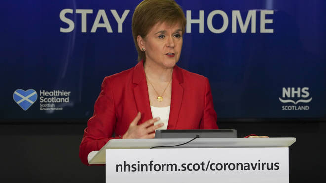 Nicola Sturgeon said May 28 could be a date for easing restrictions in Scotland