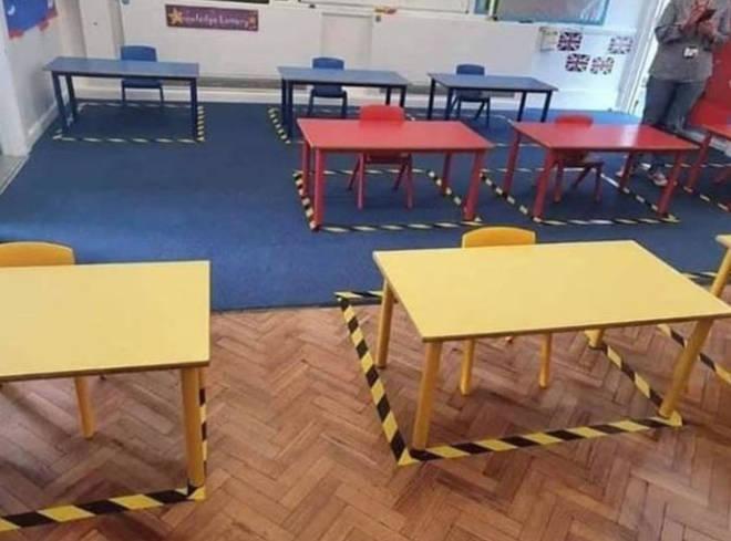 Desks will be socially distanced