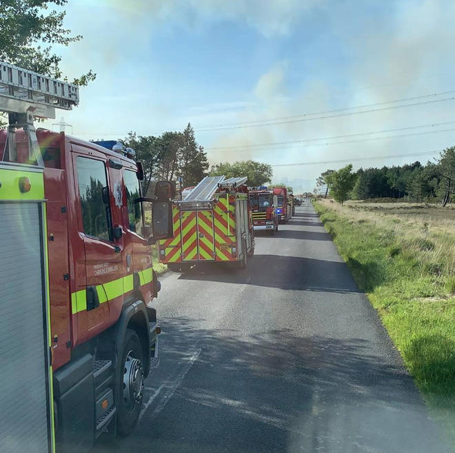 The blaze is in Wareham Forest