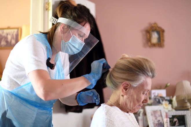 Care worker visiting a UK residents home