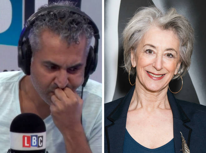 Maajid Nawaz and Maureen Lipman